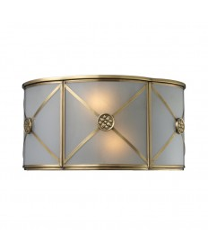 ELK Lighting 22000/2 Preston 2 Light Sconce in Brushed Brass