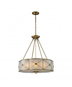 ELK Lighting 22001/6 Preston 6 Light Pendant in Brushed Brass