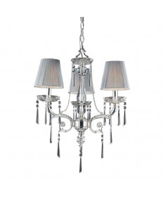ELK Lighting 2395/3 Princess 3 Light Chandelier in Polished Silver and Iced Glass