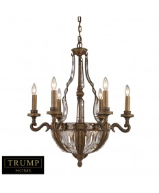 ELK Lighting 2496/6+4 Millwood 10 Light Chandelier in Antique Bronze