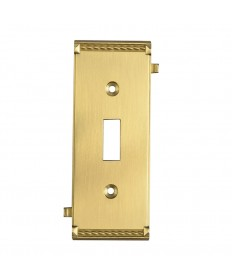 ELK Lighting 2504BR Clickplates Brass Middle Switch Plate