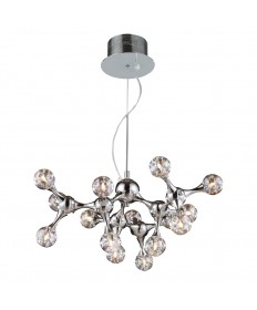 ELK Lighting 30025/15 Molecular Collection 15 Light Chandelier in Chrome with Rainbow Glass