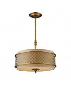 ELK Lighting 31033/4 Chester 4 Light Pendant in Brushed Antique Brass