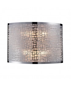 ELK Lighting 31040/2 Medina 2 Light Sconce in Polished Stainless Steel
