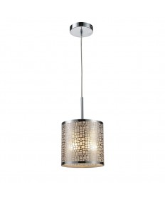 ELK Lighting 31041/1 Medina 1 Light Pendant in Polished Stainless Steel