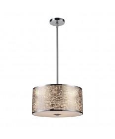 ELK Lighting 31042/3 Medina 3 Light Pendant in Polished Stainless Steel