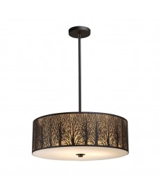 ELK Lighting 31075/5 Woodland Sunrise 5 Light Pendant in Aged Bronze