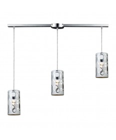 ELK Lighting 31076/3L Chromia 3 Light Pendant in Polished Chrome
