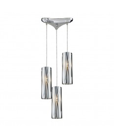 ELK Lighting 31078/3 Chromia 3 Light Pendant in Polished Chrome