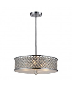 ELK Lighting 31105/4 Genevieve 4 Light Pendant in Polished Chrome