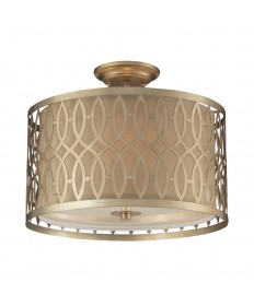 ELK Lighting 31122/3 Estonia 3 Light Semi-flush in Aged Silver
