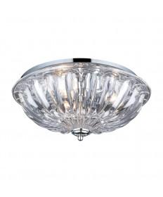 ELK Lighting 31242/3 Crystal Flushmounts 3 Light Flushmount in Polished Chrome