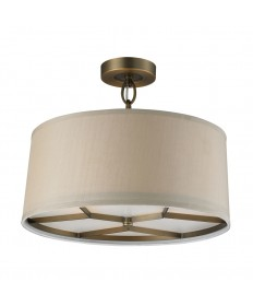 ELK Lighting 31262/3 Baxter 3 Light Pendant in Brushed Antique Brass