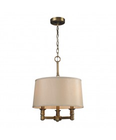 ELK Lighting 31264/3 Baxter 3 Light Chandelier in Brushed Antique Brass
