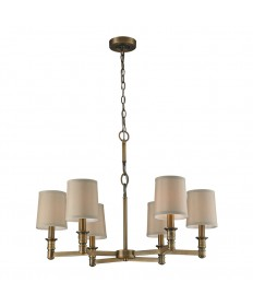 ELK Lighting 31266/6 Baxter 6 Light Chandelier in Brushed Antique Brass
