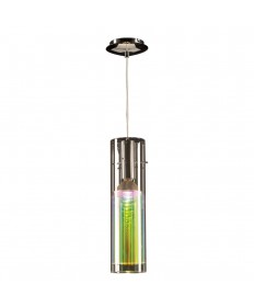 PLC Lighting 36610 PC 1 Light Mini Pendant Angora Collection