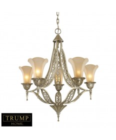 ELK Lighting 3826/5 Chelsea 5 Light Chandelier with Crystals Embedded