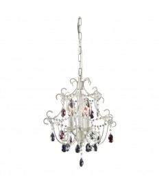ELK Lighting 4041/3 Minique 3 Light Chandelier in Antique White