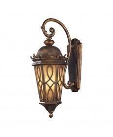ELK Lighting 42002/3 Burlington Junction 3 Light Wall Bracket in Hazlenut Bronze and Amber Scavo Glass