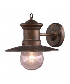 ELK Lighting 42005/1 Maritime 1 Light Wall Bracket in Hazlenut Bronze and Clear Seeded Glass