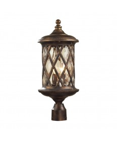 ELK Lighting 42034/2 Barrington Gate 2 Light Post Light in Hazlenut Bronze and Designer Water Glass