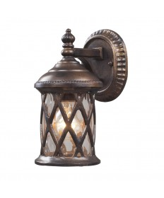 ELK Lighting 42036/1 Barrington Gate 1 Light Outdoor Sconce in Hazelnut Bronze