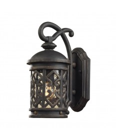 ELK Lighting 42060/1 Tuscany Coast 1 Light Wall Bracket in Weathered Charcoal and Clear Seeded Glass