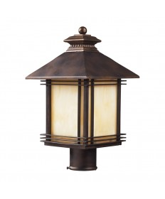 ELK Lighting 42104/1 Blackwell 1 Light Outdoor Post Light Light in Hazelnut Bronze