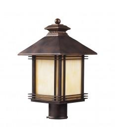 ELK Lighting 42104/1 Blackwell 1 Light Outdoor Post Light Light in Hazelnut Bronze