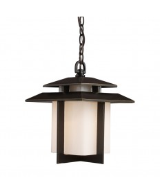 ELK Lighting 42172/1 Kanso 1 Light Outdoor Pendant in Hazelnut Bronze