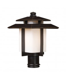 ELK Lighting 42173/1 Kanso 1 Light Outdoor Pier Mount in Hazelnut Bronze