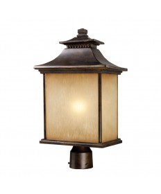 ELK Lighting 42184/1 San Gabriel 1 Light Outdoor Post Light in Hazelnut Bronze