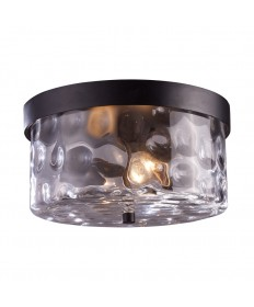 ELK Lighting 42253/2 Grand Aisle 2 Light Outdoor Flush Mount in Hazelnut Bronze