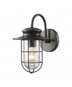 ELK Lighting 42284/1 Portside 1 Light Outdoor Sconce in Matte Black
