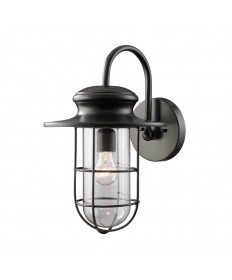 ELK Lighting 42285/1 Portside 1 Light Outdoor Sconce in Matte Black