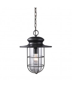 ELK Lighting 42286/1 Portside 1 Light Outdoor Pendant in Matte Black
