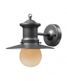 ELK Lighting 42405/1 Maritime 1 Light Outdoor Sconce in Graphite