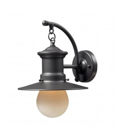 ELK Lighting 42406/1 Maritime 1 Light Outdoor Sconce in Graphite