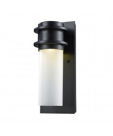 ELK Lighting 43010/1 Freeport 1 Light Outdoor LED Sconce in Matte Black