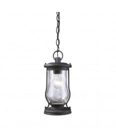 ELK Lighting 43017/1 Farmstead 1 Light Outdoor Pendant in Matte Black