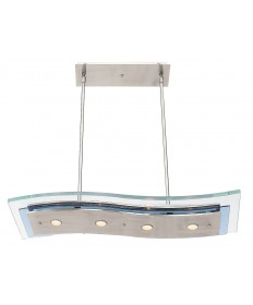 Access Lighting 50107-BS/CLR Aquarius Semi-Flush or Pendant