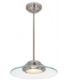 Access 50441LEDD-BS/8CL Phoebe Dimmable LED Semi-Flush or Pendant