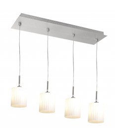 Access Lighting 50964-BS/WH Leilah 4 Light Pendant