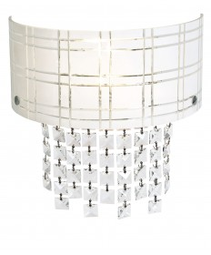 Access Lighting 50970-CH/BL Kalista Wall Sconce with Crystal Drops