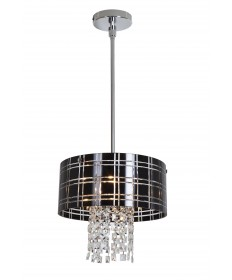 Access Lighting 50972-CH/BL Kalista Cylinder Pendant with Crystal Drops