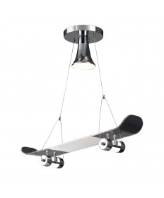 ELK Lighting 5112/1 Skateboard Novelty Lighting 1 Light Pendant in Chrome