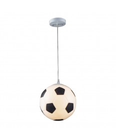 ELK Lighting 5123/1 Soccer Ball Novelty Lighting 1 Light Pendant in Silver