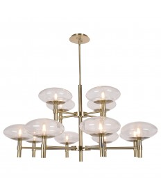 Access Lighting 52094LEDDLP-BB/CLR Grand 12-Light Round Chandelier