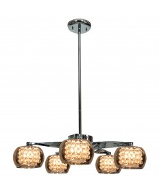 Access Lighting 52120-CH/MIR Glam 5-Light Chandelier