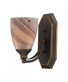 ELK Lighting 570-1B-CR 1 Light Vanity in Aged Bronze and Creme Glass